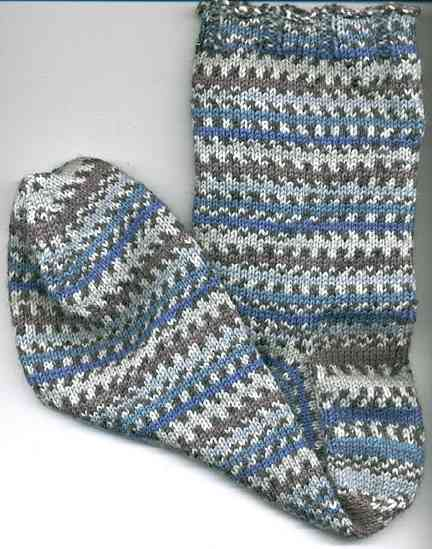 How To Measure Stitches Per Inch Knitting : Blue Regia Sock