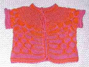 Bright baby sweater